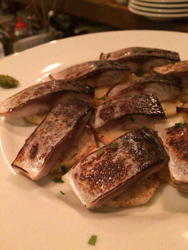炙り〆鯖とポテトのソテー